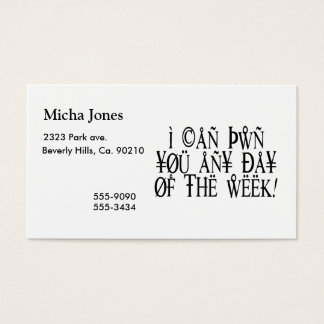 Pwn You Any Day Business Card