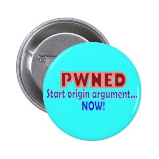 Pwned Pwn Owned Gamer Origin Design Buttons