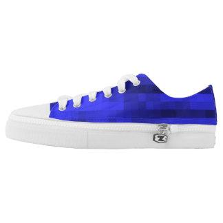 PXL Pattern Blue Low-Top Sneakers