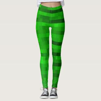 PXL Pattern Green Leggings