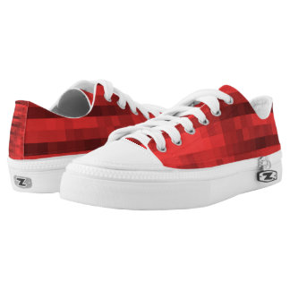 PXL Pattern Red Low-Top Sneakers