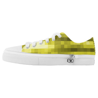 PXL Pattern Yellow Low-Top Sneakers