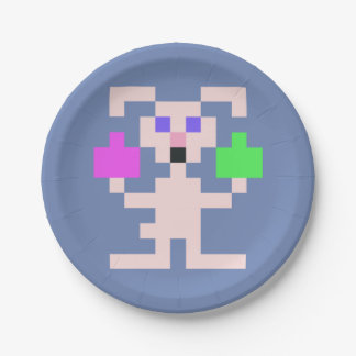 PXL Simple Easter Bunny Paper Plate