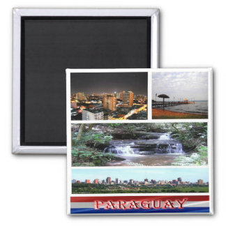 PY - Paraguay - Mosaic Collage Magnet