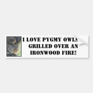 pygmy-owl, I love Pygmy Owls...grilled over an ... Bumper Sticker