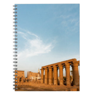 Pylon and Colonnade, Luxor Temple Spiral Notebooks