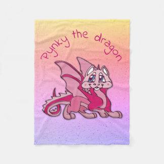Pynky the dragon - fleece blanket