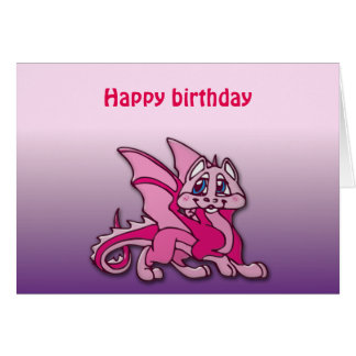 Pynky the dragon greeting card