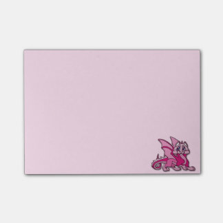 Pynky the dragon post-it notes