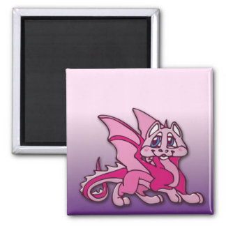 Pynky the dragon square magnet