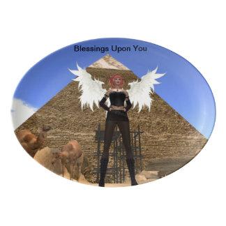 Pyramid Angel Healing Blessings Platter