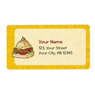 Pyramid Burger Shipping Label