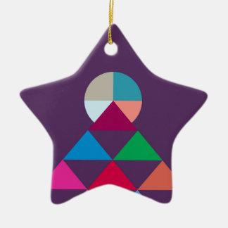 Pyramid Ceramic Star Ornament