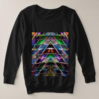 PYRAMID  - Enjoy Healing Energy Spectrum Plus Size Sweatshirt