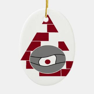 Pyramid Eye Ceramic Oval Ornament