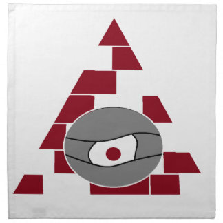 Pyramid Eye Printed Napkin