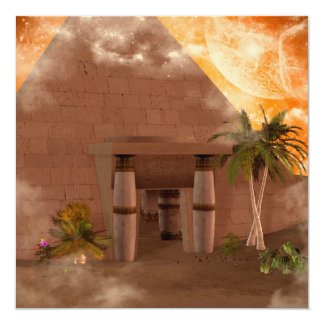 Pyramid in the sunset card
