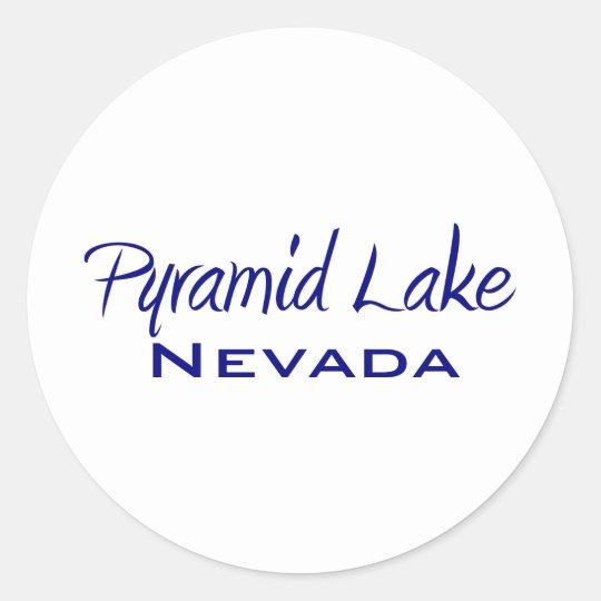 Pyramid Lake Classic Round Sticker
