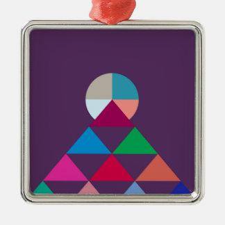 Pyramid Metal Ornament