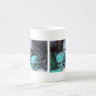 Pyramid of Skulls Bone China Mug
