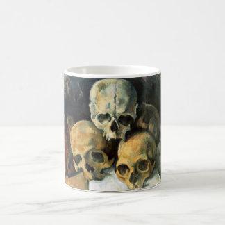 Pyramid of Skulls Paul Cezanne Basic White Mug