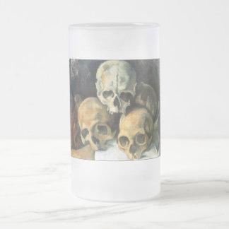 Pyramid of Skulls Paul Cezanne Frosted Glass Mug