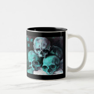 Pyramid of Skulls Two-Tone Coffee Mug