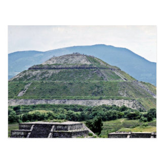 Pyramid Of The Sun At Teotihuacan Ruins, Near Mexi Postcard
