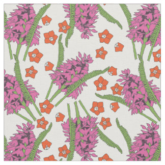 Pyramid Orchid Pattern 1 Fabric
