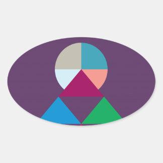 Pyramid Oval Sticker