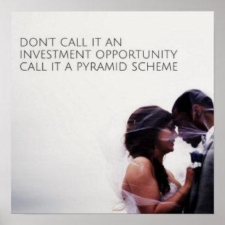 Pyramid Scheme Poster