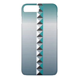 Pyramid spikes and faux brushed stainless steel iPhone 8 plus/7 plus case