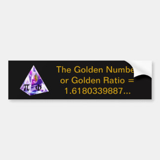 Pyramid symbol Pi and the Golden Ration Bumper Sticker