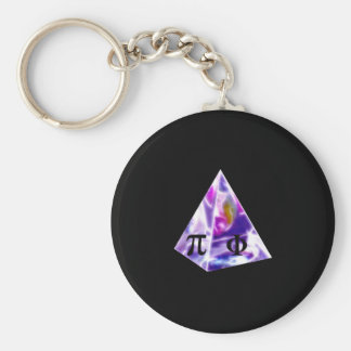 Pyramid symbol Pi and the Golden Ration Keychain