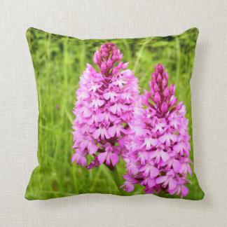 Pyramidal Orchid Throw Cushion