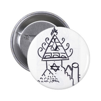 Pyramidal Pattern Production Pinback Buttons