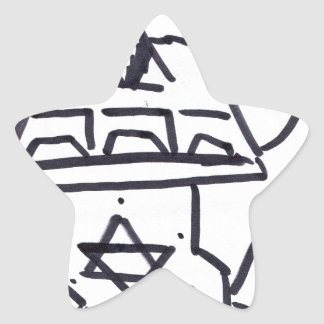 Pyramidal Pattern Production Star Sticker
