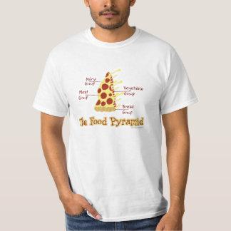 Pyramide alimentaire drôle de pizza t-shirt