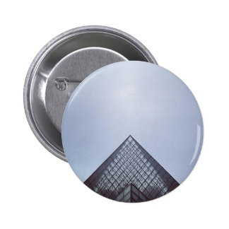 Pyramide Louvre Paris 2 Inch Round Button
