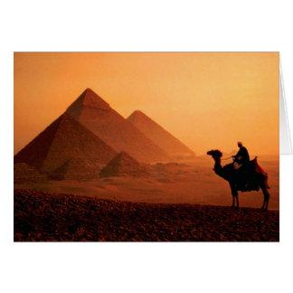 Pyramids and Camel Greeting Card