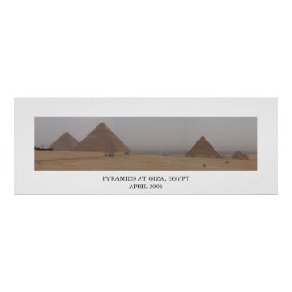 Pyramids at Giza, Egypt Poster