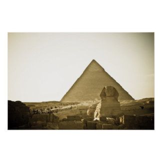 Pyramids at Giza in Cairo, Egypt Poster
