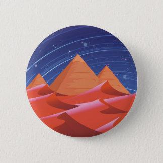 Pyramids at night under the stars 2 inch round button