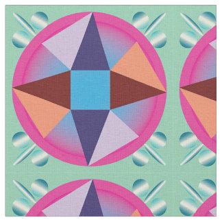 Pyramids in a circle fabric