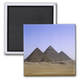 Pyramids in desert Cairo, Egypt Square Magnet