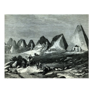 Pyramids of Meroe, on the Nile Postcard