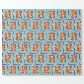 Pyramids with cubes wrapping paper
