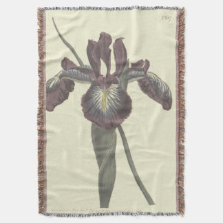 Pyrenean Flag Iris Illustration Throw