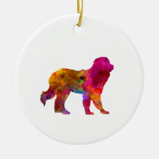 Pyrenean Mountain Dog in watercolor Ceramic Ornament