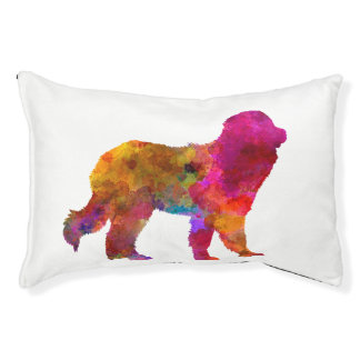 Pyrenean Mountain Dog in watercolor Pet Bed